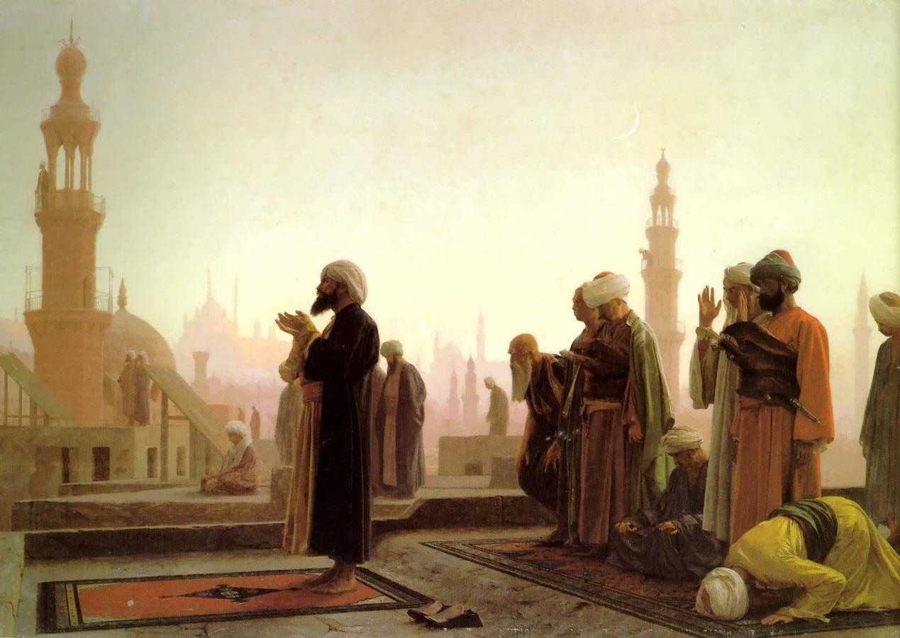 Jean-Léon Gérôme, Das Gebet (1865). Quelle: Wikipedia (gemeinfrei)